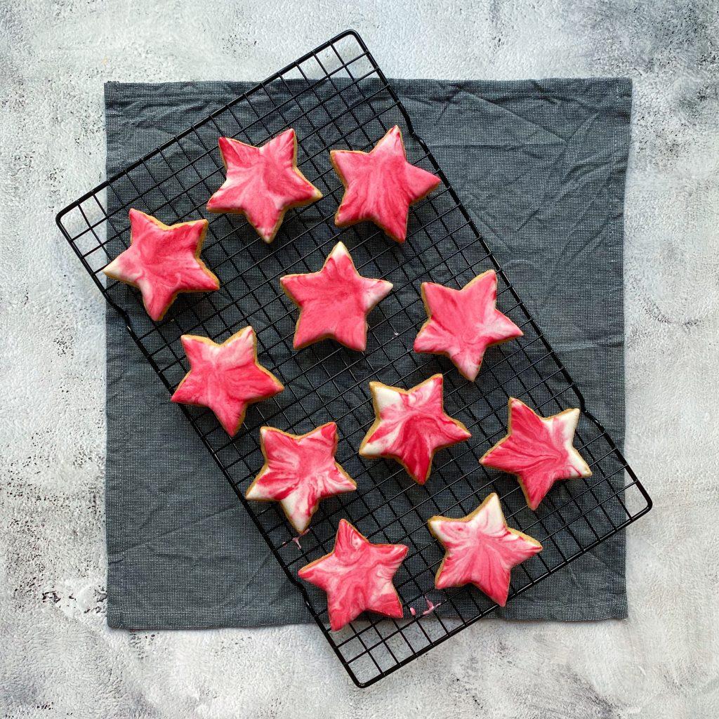 marbled xmas cookies