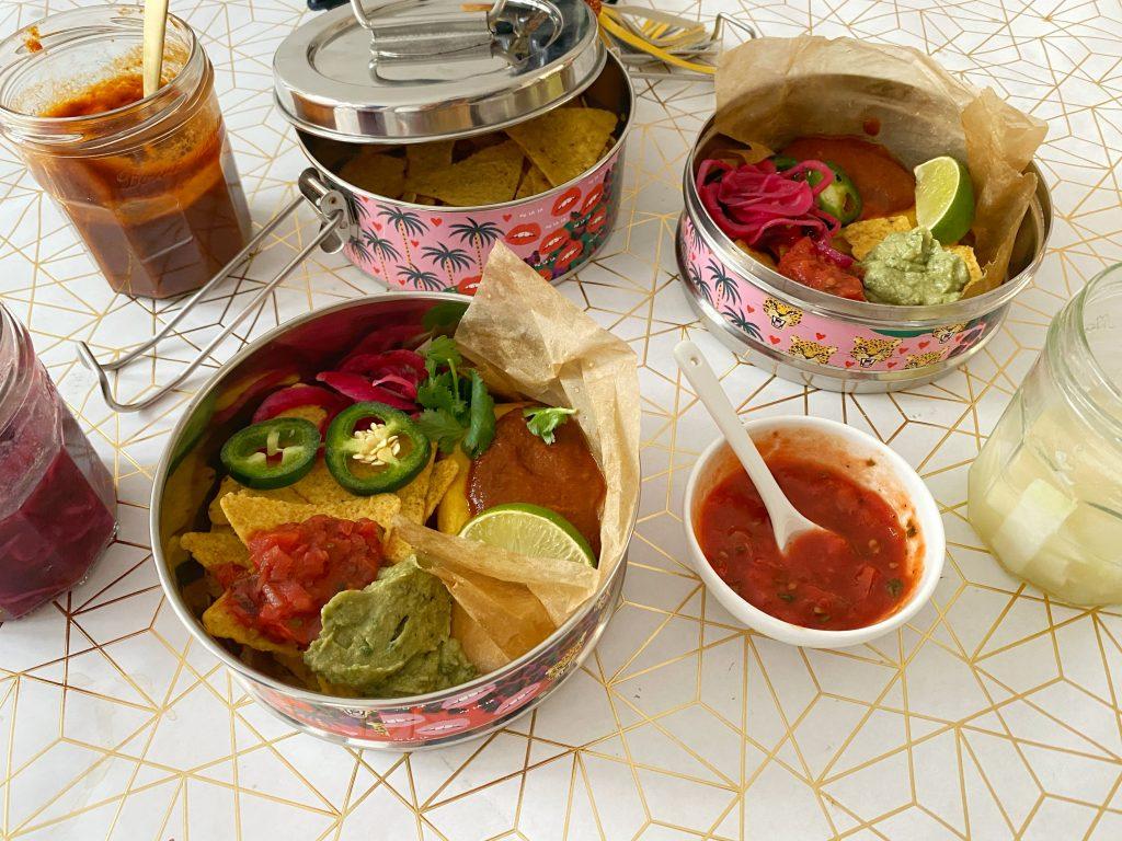 Taco salad in tiffin