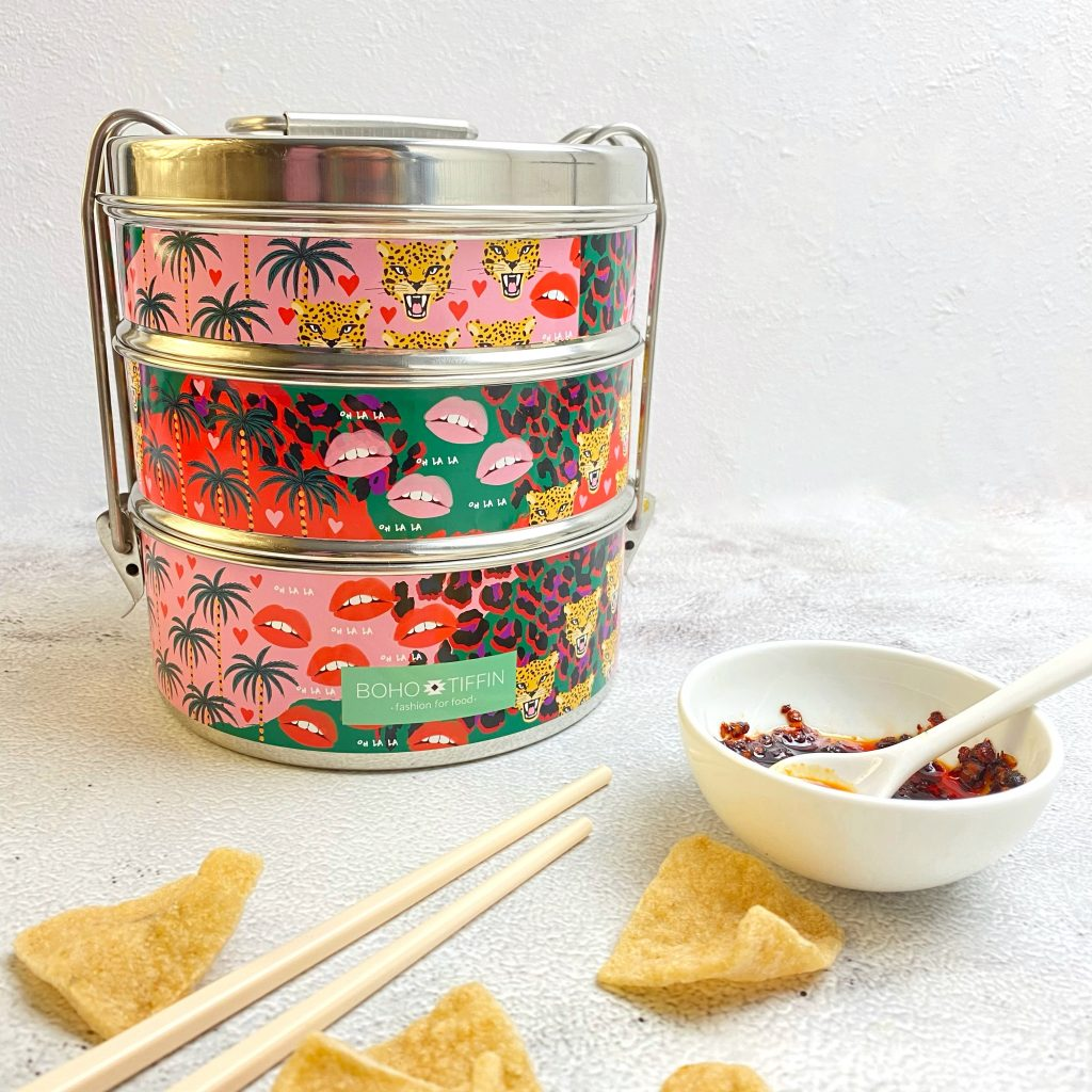 Boho tiffin with crisps