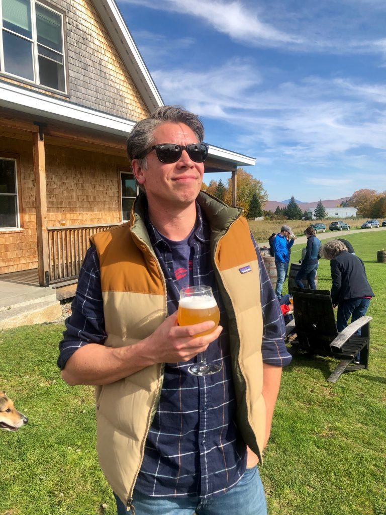 guy in the sun with a craft beer
