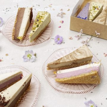 Vegan cheesecake pieces
